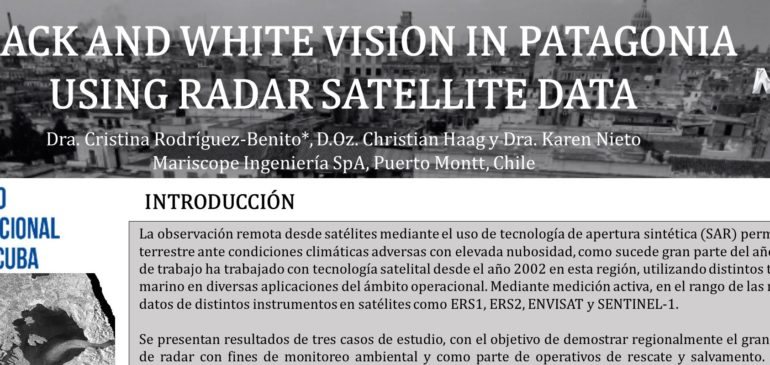 Black and white vision in Patagonia using radar satellite data